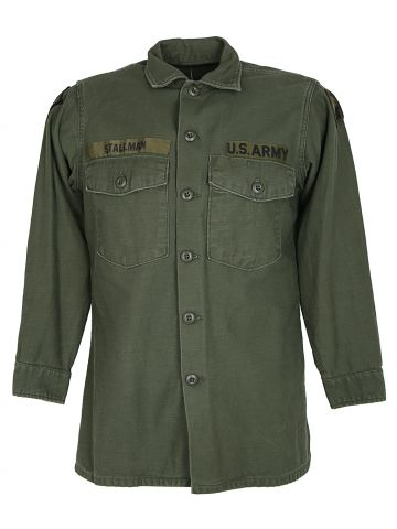 US Army 1971 OG-107 Type Three Vietnam Era Green Shirt - L