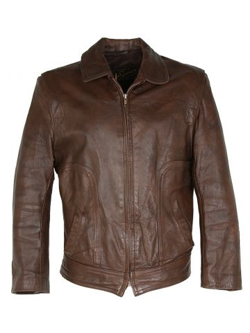 Vintage 80s Symax Leather Bomber Jacket - M