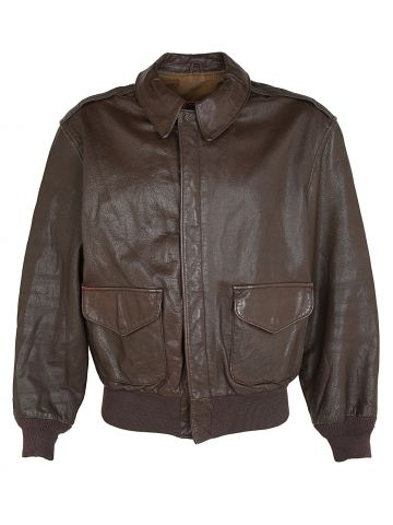 Brown Cooper Goatskin Leather A-2 Flight jacket - L