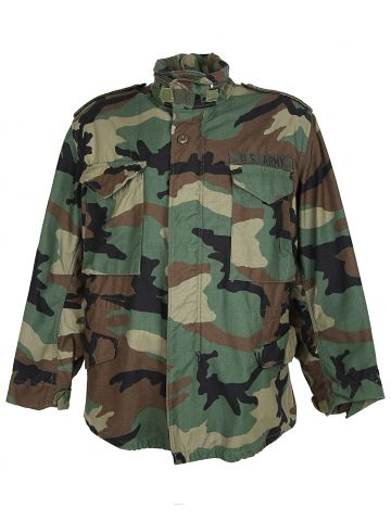 1991 Cold weather Woodland Camo Field Jacket - M