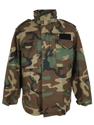 1986 Cold Weather Woodland Camo Field Jacket with Liner - M
