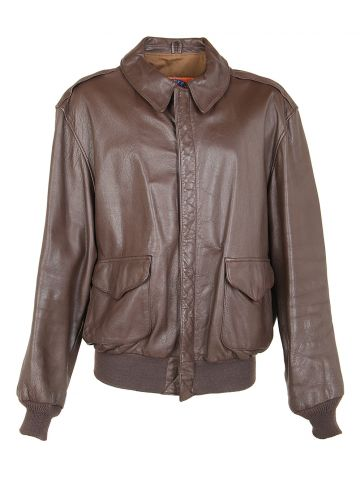 Vintage Cooper Brown Leather A-2 Flight Jacket - XL