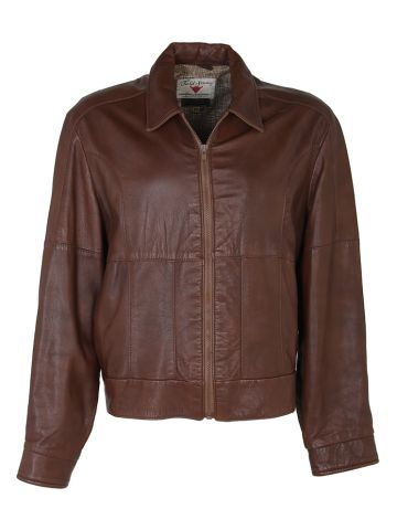 70's 80's Brown Gordon & Ferguson Leather Jacket - L