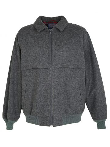 Grey Wool Mackinaw Style Pendleton Jacket - L