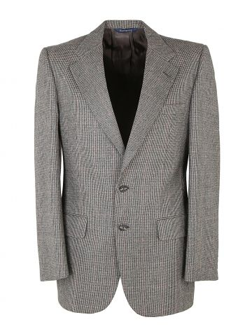 Burberry Black & White Wool Houndstooth Jacket - M