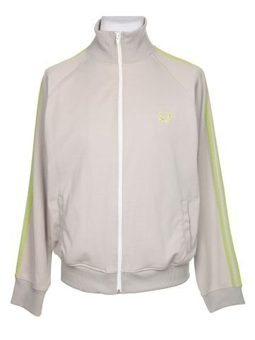 Fred Perry Grey & Green Track Jacket - M