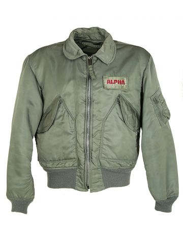 90s Alpha Flight Jacket CWU - M