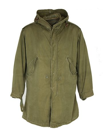 50s US Army Khaki Green Parka - S