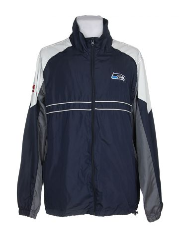 Blue Seattle Seahawks Jacket - L