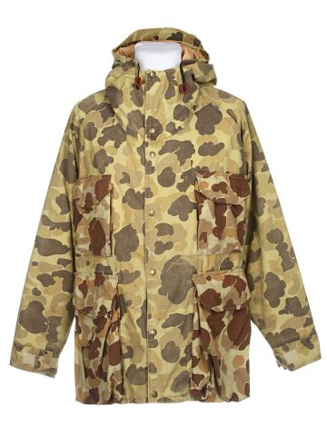 Green & Brown Camouflage Jacket - L