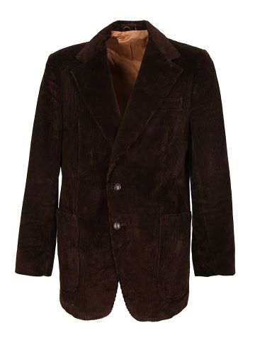 70s Hudson's Bay Dark Brown Corduroy Jacket - L