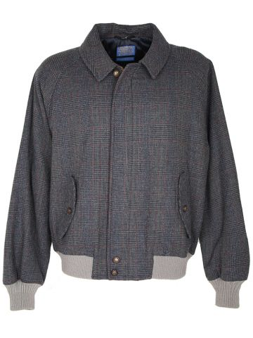 Checked Wool Pendleton Harrington Jacket - XL